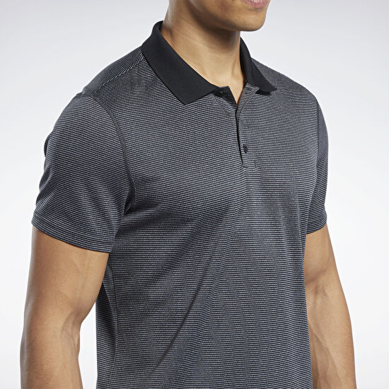 Picture of Workout Ready Striped Polo Shirt